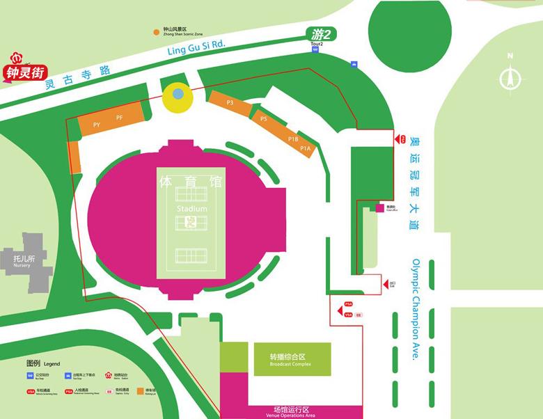 南京体育学院(网球场馆)地图