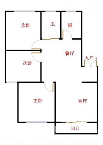 三个卧室全朝南