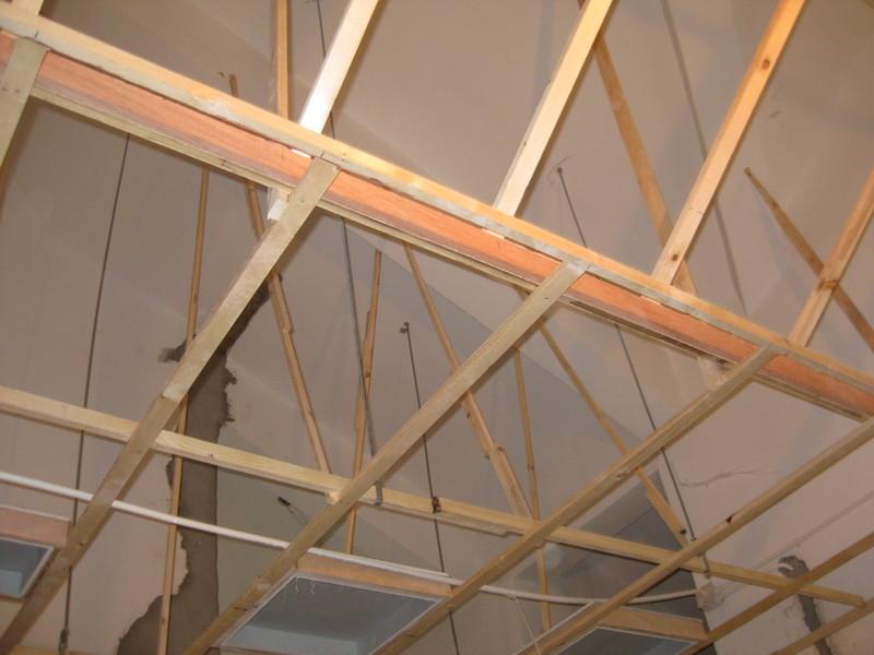 木工吊顶龙骨架图片