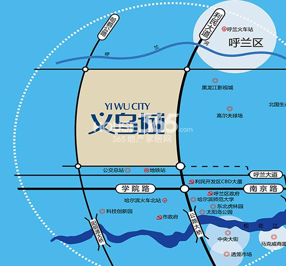 义乌城交通图