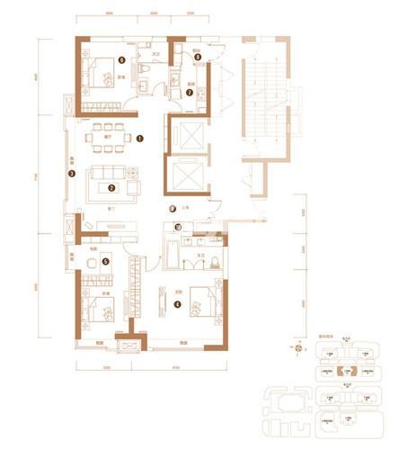 3室2厅1卫 183平米(售完)