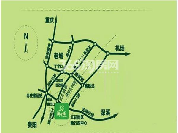 新雪域西南农产品交易中心交通图