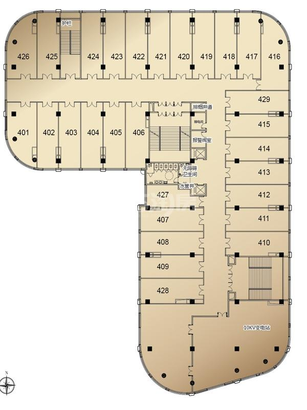 同隆湾广场户型图