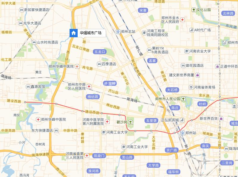 华强城市广场交通图