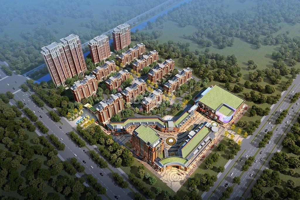 丝绸之路泰州广场鸟瞰图