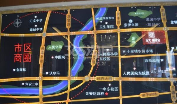 远大雍景台交通图