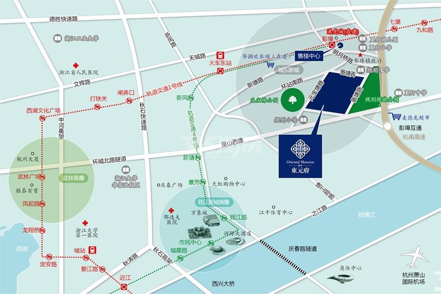 淮矿东元府交通图