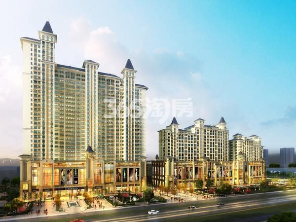 天山熙湖商业广场鸟瞰图