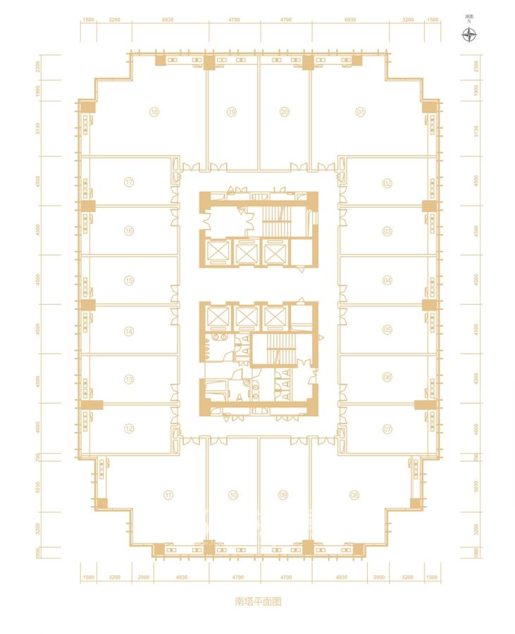 百利中心南塔平面图