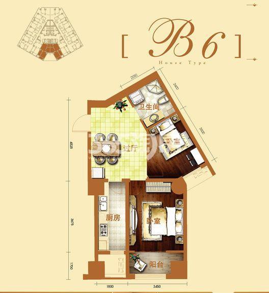 2号楼 B6户型(售完)