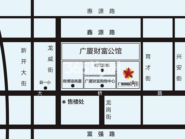 广厦学府交通图