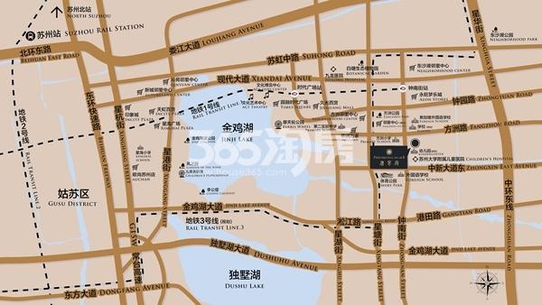 苏州唐宁府交通图