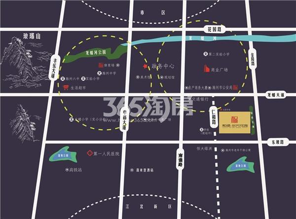 和顺东方花园交通图