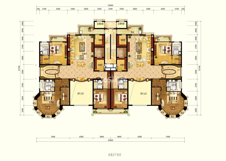大平层B1户型268㎡阁楼(顶复)