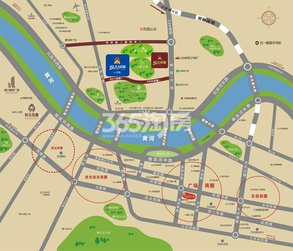 恒大绿洲二号院交通图