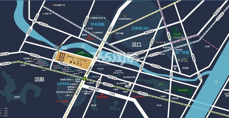 万科新世纪翡翠滨江交通图