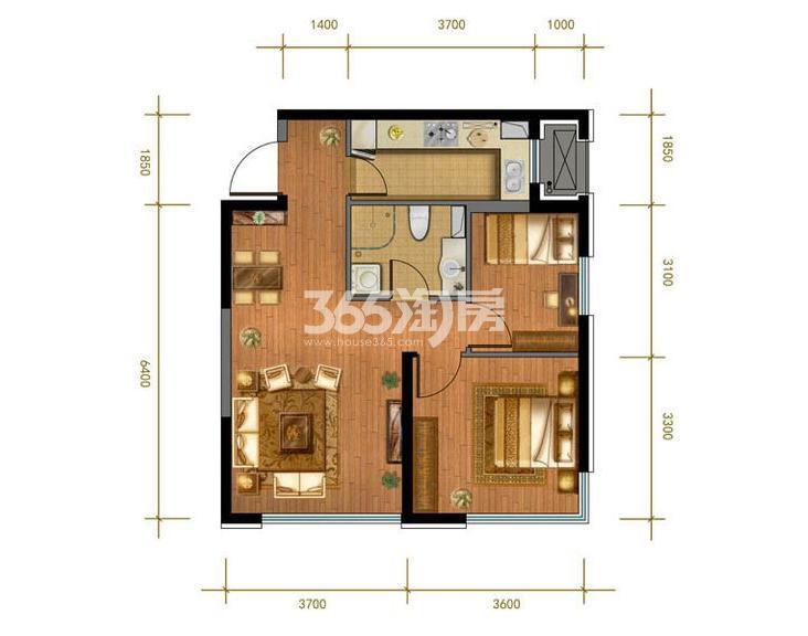 5#、7# 2室2厅1卫 77平米