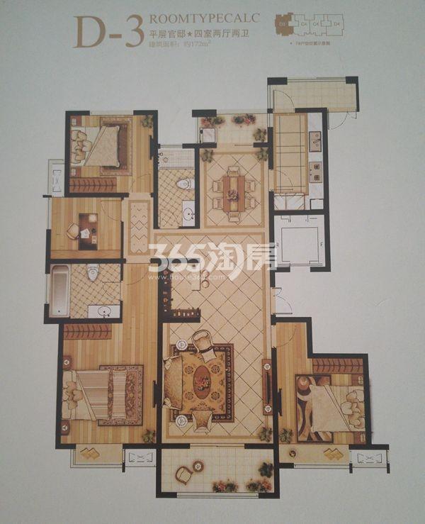 D-3四室两厅两卫户型(172㎡)