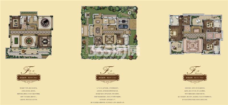 林景象山墅院F户型图560-750㎡
