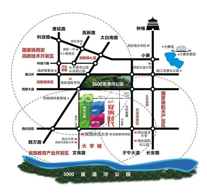 紫薇睿纳时代交通图