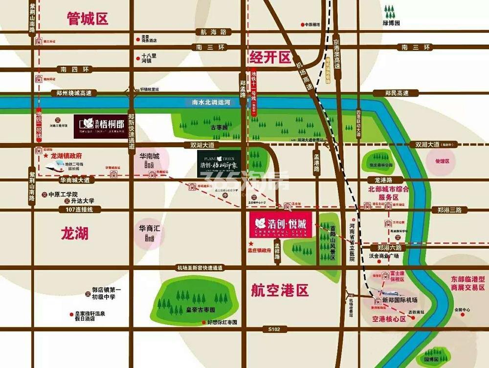 浩创悦城交通图