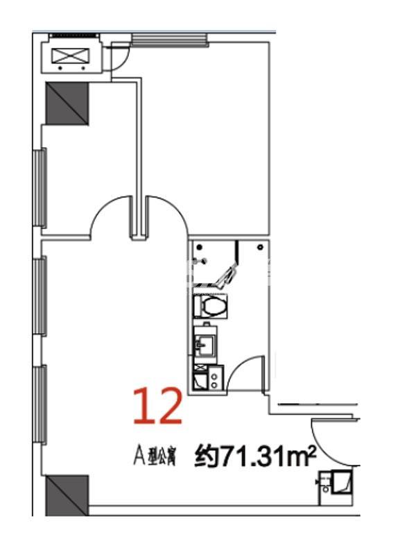 12户型71.31平米