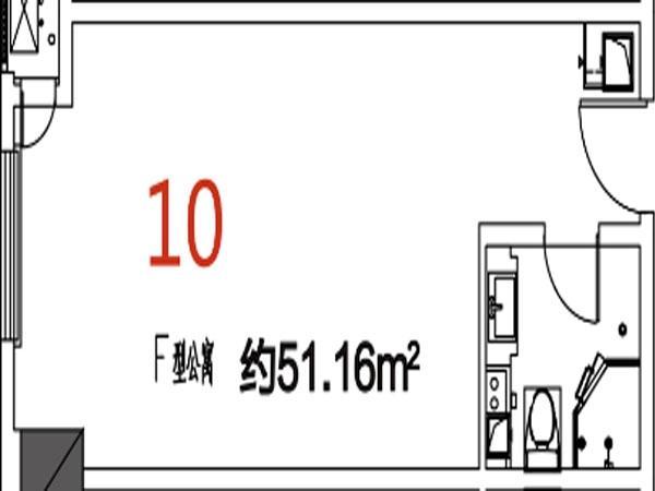 10户型51.16平米