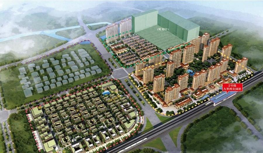 长泰国际社区南区鸟瞰图