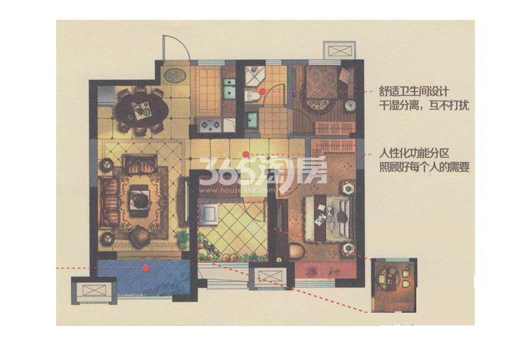金科世界城高层96.62平户型图