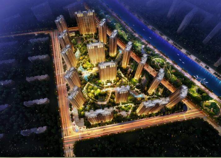 正荣润江城二期润锦城鸟瞰图