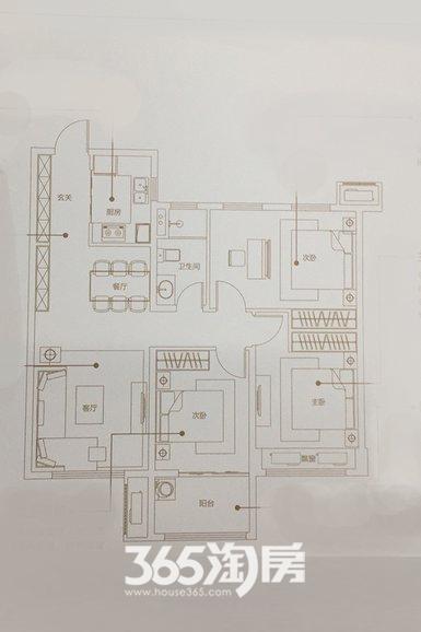 万科未来之光95㎡三室两厅B户型