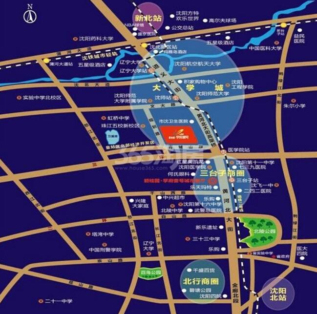 碧桂园学府壹号交通图