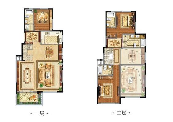 中国铁建西派国际别墅C2户型3室3厅4卫1厨192.00㎡