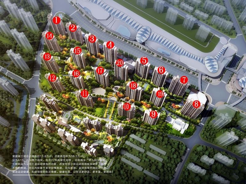 荣盛城三期鸟瞰图
