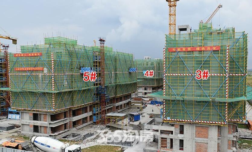 滨湖双玺7月工程进度3#4#5#实景图(2017.7.13)