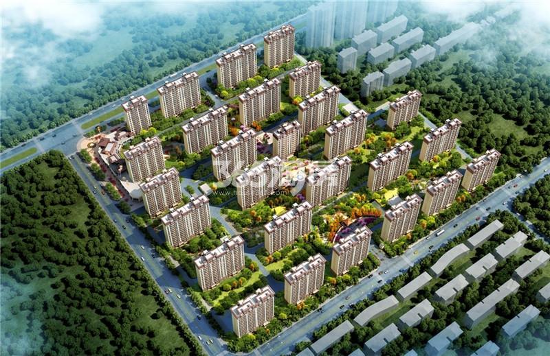 碧桂园奥能罗马世纪城儒林境鸟瞰效果图