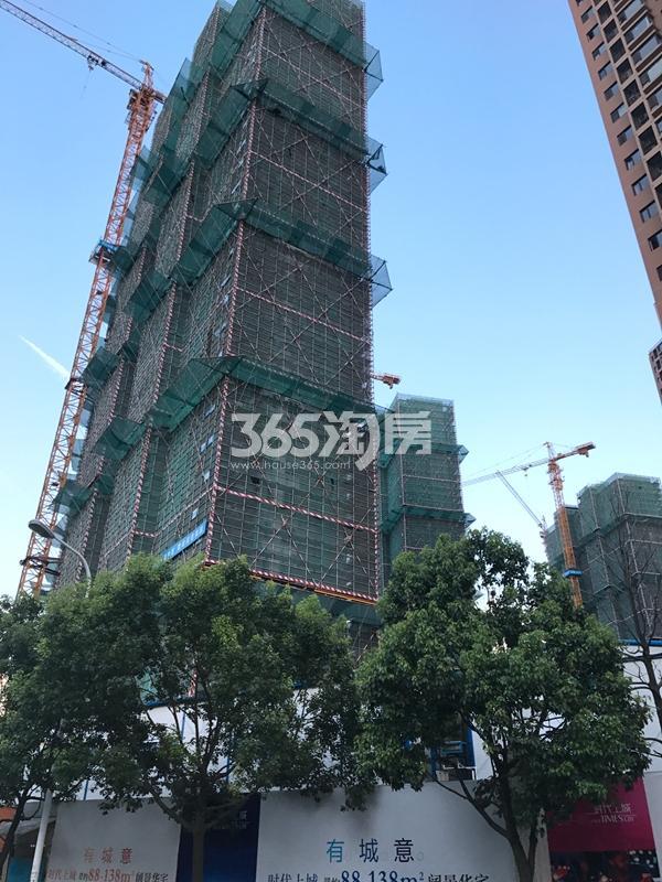九龙仓时代上城C区高层实景图(2017.6 摄)