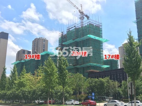 朗诗太湖绿郡三期高层工程进度实景图(2017.8摄)