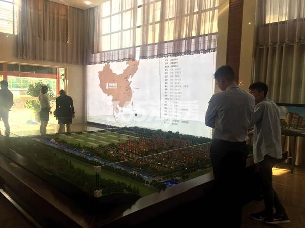 恒泰山水文园项目售楼处沙盘处实景(9.1)