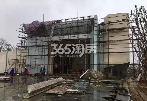 少荃府在建售楼部外施工实景(2017.9.7)