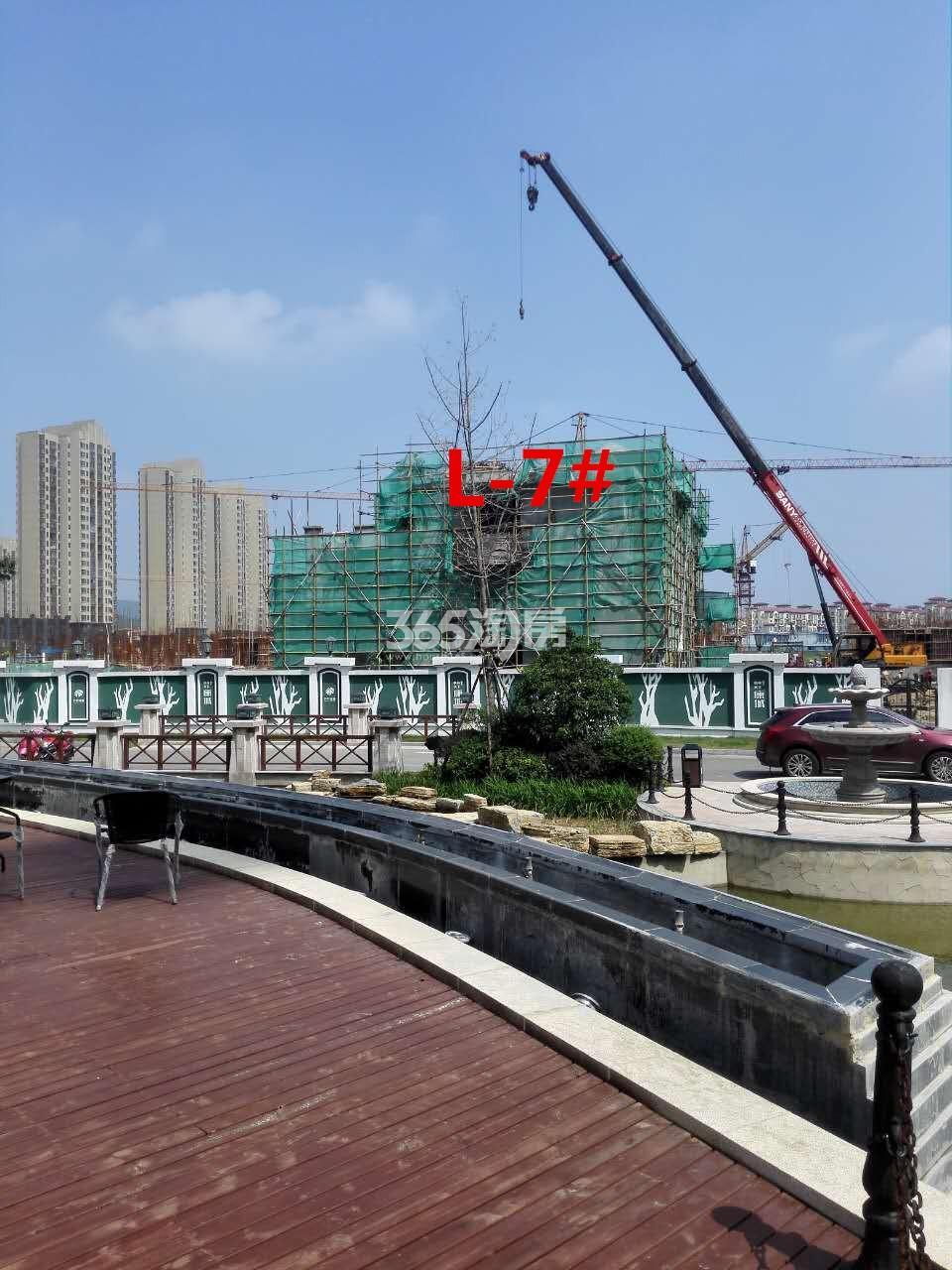 枫林天下康城联排别墅7#楼在建实景图(9.11)