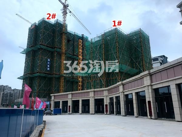 锦熙府1#、2#楼工程进度实景图(2017.9摄)