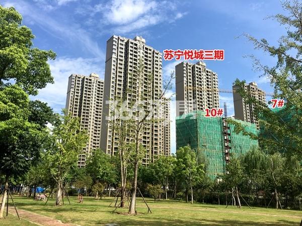 苏宁悦城四期7#、10#楼洋房实景图(2017.9摄)