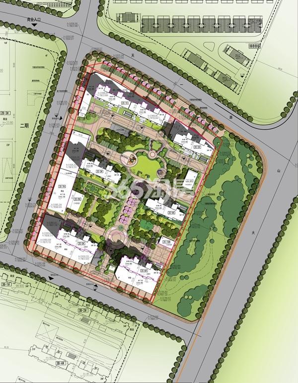 太平洋城中城二期住宅总平面图