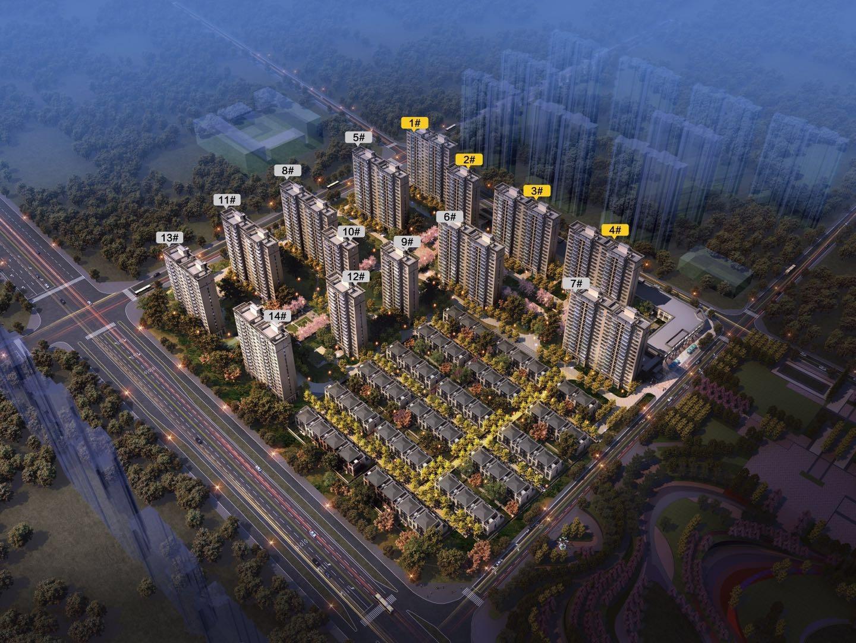 滁州正荣府鸟瞰图
