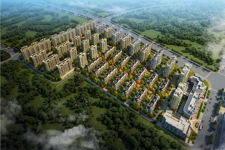 中海曲江大城鸟瞰图
