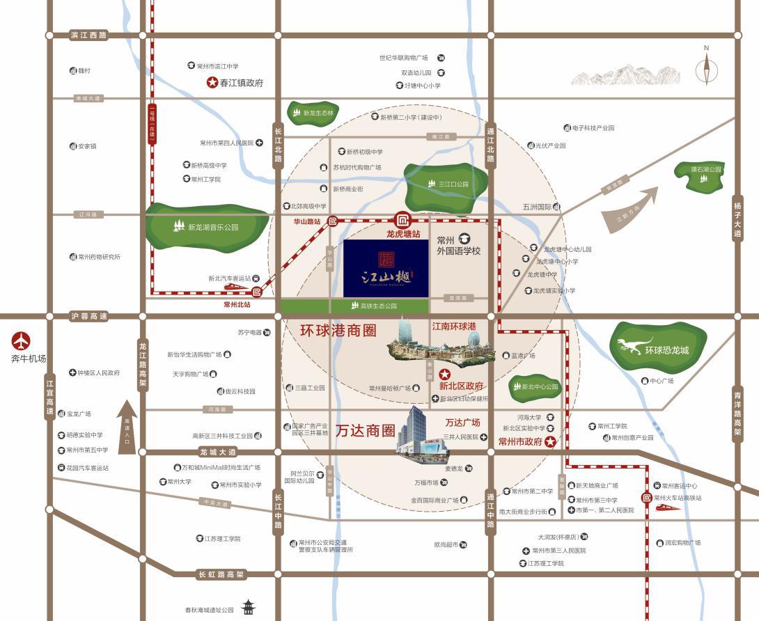 美的·阳光城·江山樾交通图