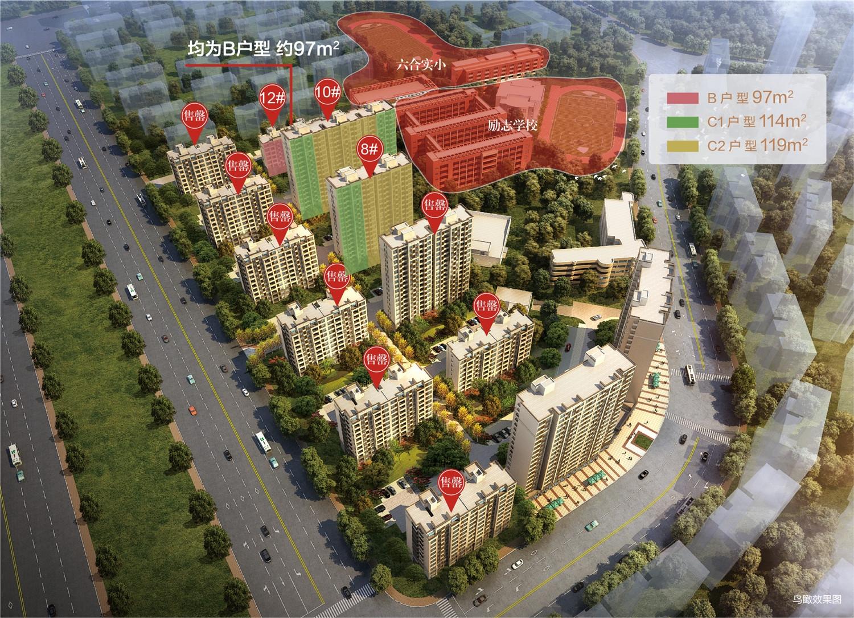 中海棠城公馆鸟瞰图